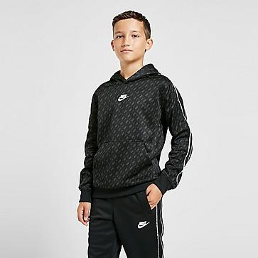 Nike sudadera con capucha Tape All Over Print júnior