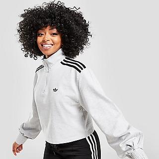 adidas Originals 3-Stripes 1/4 Zip Crop Top
