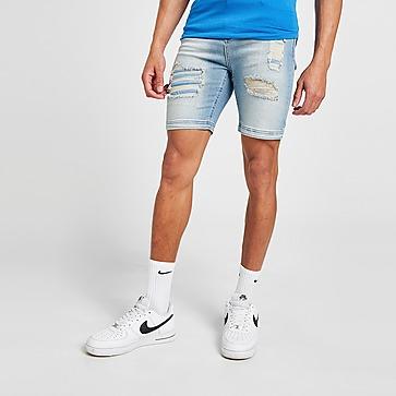 11 Degrees pantalón corto Distressed Denim
