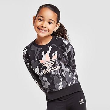 adidas Originals Girls' Tie Dye Crew Sweat/Leggings Set Children