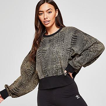 adidas Originals All Over Print Animal Crew Sweatshirt