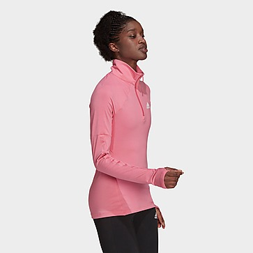 adidas Camiseta manga larga AEROREADY Designed 2 Move Cotton Touch 1/2-Zip