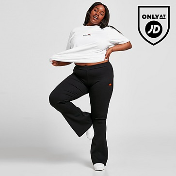 Ellesse Logo Rib Flare Plus Size Pants