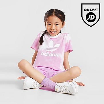 adidas Originals Batiikkivärjätyt T-paita ja shortsit Lapset
