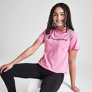 Champion Girls' Logo Crop T-Shirt Junior