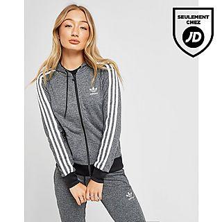 Femme Adidas Originals Sweat À Capuche Gris Soldé Femme