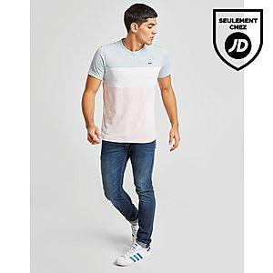 371587ae31 ... Lacoste T-Shirt Tri Colour Block Homme