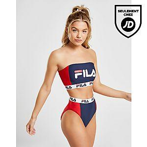 Fila Colour Block Bandeau Bikini Top