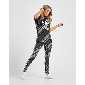 the best attitude 320a3 bbd62 ... adidas Originals T-shirt Boyfriend Imprimé Trèfle Femme