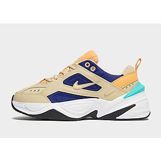 basket Nike Wmns M2K Tekno blanche orange on feet | Nike