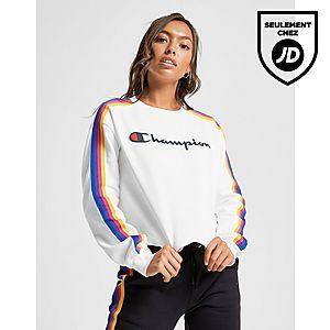 a0e7b8d187b99 ... Champion Sweat-shirt Rainbow Crop Crew Femme