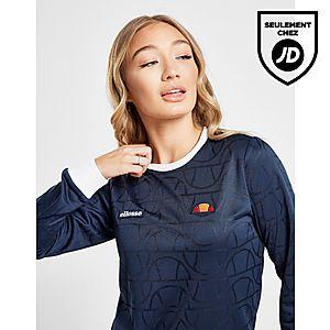 45588580ec84d Ellesse T-shirt Manches Longues Imprimé Logo Femme ...