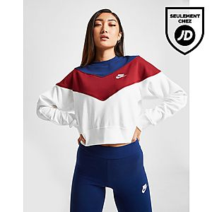 taille 40 0453f 2bee9 Nike Sweat-shirt Heritage Colour Block Crew Femme