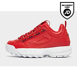 fila chaussures rouges