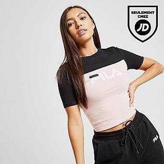 Crop Clothing Fila T ShirtsShorts ShirtJd Sports Ringer