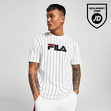 Acheter White Fila T Shirt Santo Stripe Homme