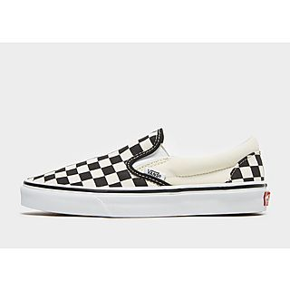 vans classic slip on chaussures noir blanc check jd