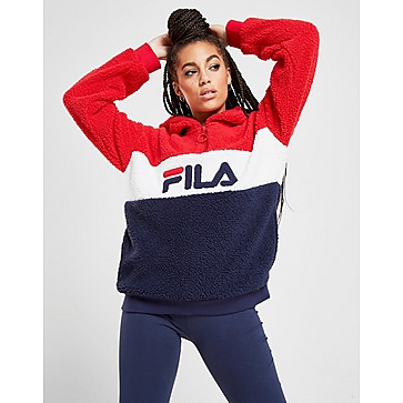 fila sweat à capuche colour block crop femme