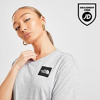The North Face T-Shirt Crop Box Logo Femme