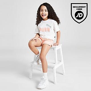 Puma Ensemble Fille Essential T-Shirt/Shorts Enfant