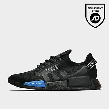 adidas Nmd R1 V2 Blk/blk/blu Jpn$
