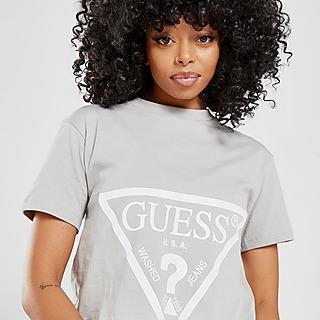 GUESS T-Shirt Court Logo Triangle Femme