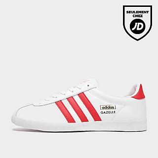 adidas Originals Gazelle Wht/red/wht$