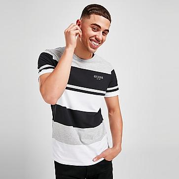 GUESS T-Shirt Manches Courtes Colour Block Stripe Homme