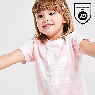 adidas Originals Ensemble T-Shirt/Short Cycliste Tie Dye Filles Bébé