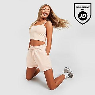 Pink Soda Sport Short Boyfriend en Molleton Essentials Femme