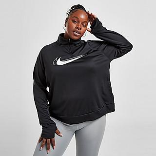 Nike Vêtement intermédiaire de running à demi-zip Nike Dri-FIT Swoosh Run pour Femme (grande taille)