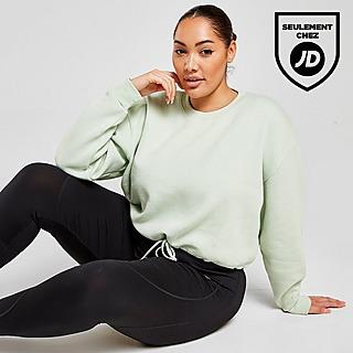 Pink Soda Sport Sweatshirt Court à Col Rond Essential Femme