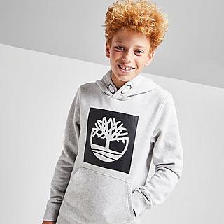 Timberland Overhead Fleece Logo Hoodie Junior
