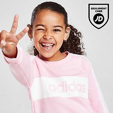 adidas Girls' Linear Essential Crew Tracksuit Children