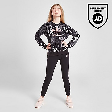 adidas Originals Girls' Tie-Dye Trefoil Crew Sweatshirt Junior