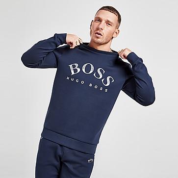 BOSS Sweatshirt Ras du Cou Salbo Curve Logo Homme