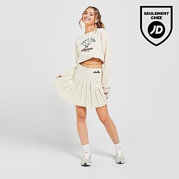 Ellesse Pleat Mid Rise Tennis Skirt