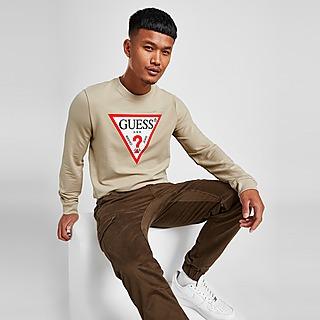 GUESS Sweatshirt Triangle Logo Crew Homme