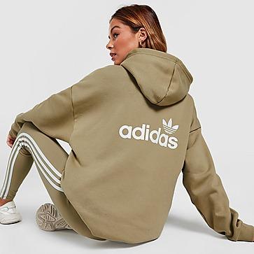 adidas Originals Sweat à Capuche Linéaire Overhead à 3 bandes Femme