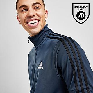 adidas Top de Survêtement en Polyester 3 Bandes Badge of Sport Homme