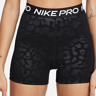 Nike Short taille haute imprimé Nike Pro Dri-FIT 8cm pour Femme