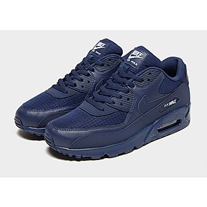 nike air max 90 leather midnight navy bianca