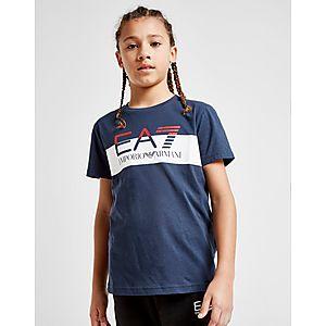 da25153f20 Emporio Armani EA7 Colour Block Logo T-Shirt Junior