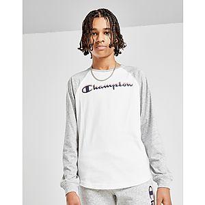 60216ef083d3 Champion Long Sleeve Logo T-Shirt Junior ...