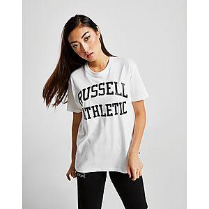 ad34059a Russell Athletic Arch Logo Boyfriend T-Shirt ...