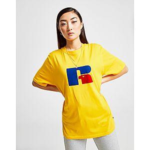 2ac0b9f0 Russell Athletic Flock Logo Boyfriend T-Shirt ...
