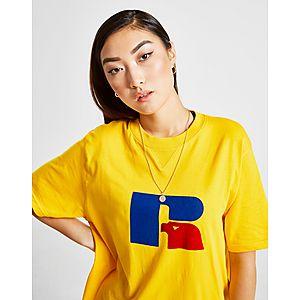 4ae4a90d ... Russell Athletic Flock Logo Boyfriend T-Shirt