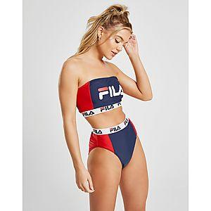66a271db6d2 ... Fila Colour Block High Waist Bikini Bottoms