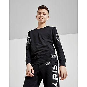 premium selection 45123 d000b Jordan x Paris Saint Germain Jock Tag T-Shirt Junior ...