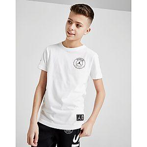 the best attitude 3222f eba17 Jordan x Paris Saint Germain Logo T-Shirt Junior ...